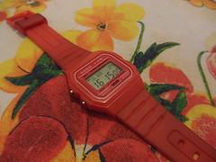 Casio F-91W (Red) (ZeissMarit) Tags: red casio casiof91w