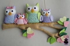 Corujinhas (ovelhanegra_toys) Tags: felt maternity owl feltro corujas maternidade manualidades fieltro feltcraft feitoamão corujinhas ovelhanegratoys