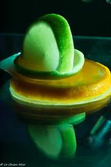green ligth (LeChienNoir) Tags: orange macro green ice fruit canon frozen juicy melting flash filter 2015 100mm28macro lechiennoir canon5dmark3 lechiennoirnl