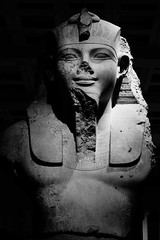 Amenhotep III (McTumshie) Tags: england bw london statue museum unitedkingdom camden egypt egyptian britishmuseum pharoh londonist amenhotepiii 12february2015