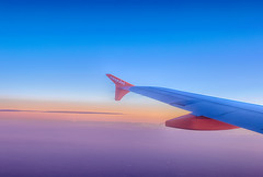 Return journey, HDR (souvaroff) Tags: blue sunset sky cloud alps portugal colors clouds plane airplane air flight porto journey return airbus easyjet a320 trajet in eads souvaroff