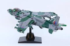 GR9 Harrier ii (bricktrix) Tags: toys lego jet legojet harrierii harriergr9 legoharrier