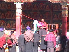Worshipers in Shigatse