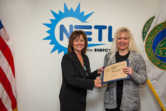 Shari Carder is presented with a Certificate of Service award for twenty years of service. (NETL Multimedia) Tags: certificateofservice sharicarder netl nationalenergytechnologylaboratory nationallab energylab energy research national laboratory fossilenergy fossilfuel science technology
