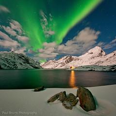Green and Yellow (Panorama Paul) Tags: lake cold ice norway reine northernlights auroraborealis lofotenislands nikkorlenses nikfilters vertorama nikond800 wwwpaulbruinscoza paulbruinsphotography