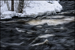 Hjulfors (Jonas Thomn) Tags: trees snow ice water is stream rapids vatten trd sno fors lappfors stm hjulfors