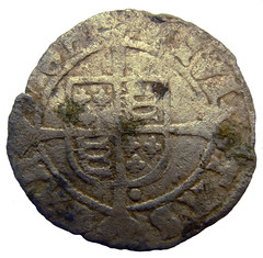 Henry VIII half groat Canterbury Mint 1544 - 1547 AD rev (Welcome to The PAST) Tags: gold hammered roman brooch medieval celtic viking flint saxon scraper neolithic ironage fibula romanobritish metaldetecting stater knapped samianware metaldetectingfinds
