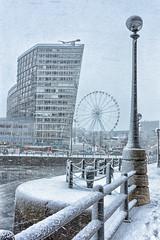 Snowstorm (Steev McAlister) Tags: uk greatbritain snow ecology weather liverpool europe britishisles unitedkingdom britain environment british snowing environmentalism albertdock ecosystem merseyside