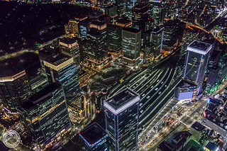 From Above of Tokyo Station by Night