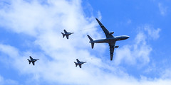 Day 2 Formation RAAF MRTT and 3 Super Hornets Aust Intl Air Show 2015-3305 (Craig Hall Photography) Tags: aircraft military tiger formation planes airbus boeing raaf a330 avalon tanker avation wedgetail 2015 awac mrtt e7a australianinternationalairshow avaloninternationalairshow2015