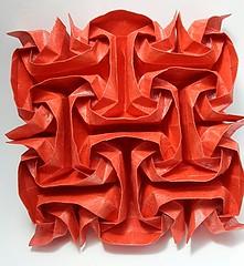 Crystal Rose (modular.dodecahedron) Tags: origamitessellation toshikazukawasaki squaregrid