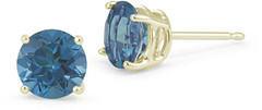 0.10 Carat Round Blue Diamond Stud Earrings in 18K Yellow Gold (shopsmileprize) Tags: blue yellow gold diamond round earrings stud 010 18k carat