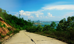 Da Nang (free3yourmind) Tags: road city blue sea sky nature clouds view path panoramic vietnam peninsula danang sontra
