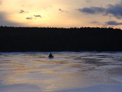 Icy Pond (Tracy Christina) Tags: pink winter sunset canada ice clouds newfoundland february flatrock