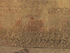 Painted Stone in Angkor wat