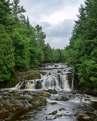 Copper Falls State Park (Kirby Wright) Tags: copper falls state park mellen wisconsin up north nikon d700 long longer exposure waterfall bad river forest trees tamron 2040mm f2735 doughboy trail