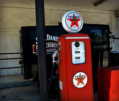 """You can trust your car to the man who wears the star..."" (mark owens2009) Tags: texaco gaspump star jackdaniels truck"