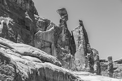 The Balanced Rock_BW (Kool Cats Photography over 7 Million Views) Tags: ef24105mmf4lisusm utah canoneos6d landscape blackandwhite monochrome nationalpark archesnationalpark serene rockformations geology usa