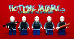 Bandits (Hotline Miami 2: Wrong Number) (Evgenion) Tags: 2 brick art comics book gangsters arms lego action miami military wrong number figure minifigs custom figs bandits hotline moc minifigures sidan