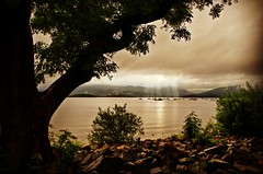 Sunbeam over Loch Lomond. (marcingodlewski1) Tags: camping boats scotland sunbeam lochlomond scottishweather millarochybay