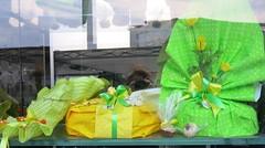 Wednesday Colours - The Beautiful Windows of Natale Pastry Shop (Pushapoze) Tags: italia italy puglia pouilles lecce pasticcerianatale shopwindow vitrines vetrina lollipops tortasalentina easter pasqua