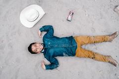 Charro apprentice (Hctor Muoz Photo) Tags: boy hat mexico cowboy fuji floor top young ground fujifilm lay tierra 18mm vaquero piso charro acostado xpro1 lalying