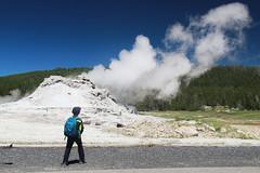 Wonder (RPahre) Tags: bluesky yellowstonenationalpark yellowstone eruption castlegeyser uppergeyserbasin upperbasin peopleofyellowstone