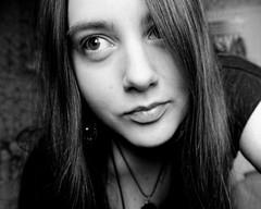 Me.. (LamiaDeTenebris) Tags: me ich bw sw blackwhite blackandwhite schwarzweis schwarzundweis myself selfportrait selbstportrt woman girl frau