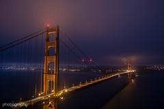 Golden Gate Fog (Alex Chilli) Tags: sanfrancisco fog bridge goldengate sunrise night morning early quiet blue california usa america travel
