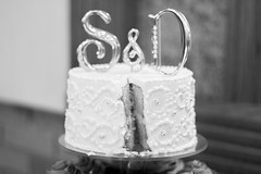 S&D Wedding (Grace-ful Cakes) Tags: cakeandcupcaketower weddingcakeandcupcakes batmancupcakes batman wedding weddingcakeandcupcaketower white silver black rhinestones scrollwork silverdragees whiteonwhite chocolatebuttercream buttercream