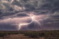 YES!! (inlightful) Tags: sky storm newmexico southwest nature rain night clouds desert monsoon bolt strike lightning thunder