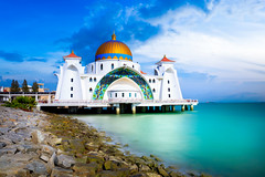 Malacca straits mosque masjid (Patrick Foto ;)) Tags: architecture asia beach blue building city cloud day dome floating historical islam islamic landmark landscape malacca malaysia masjid melaka mosque muslim outdoor pulau religion religious scene scenery sea selat sky spiritual strait symbol tour tourism unesco view white my