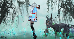 Alice in Wonderland by Essence (VeRaCruZa) Tags: essence alice wonderland paulaklein artwork secondlife sl slfashion slblues hunt urworld flickrunitedaward flickr fashionart
