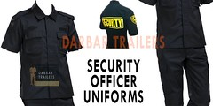 Security Officer Uniforms  Bodyguard Uniforms  Darbartrailers (Darbar Trailers Security And Police uniforms) Tags: uniform work wear shirt garment fashion industry security guard uniforms linen garments police