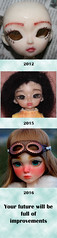 Faceup Improvements (Sockington) Tags: bjd ball jointed doll elfdoll amy hujoo berry suve faceup faceups timeline