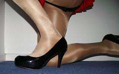 Black patent platforms (colleen_ni00) Tags: stilettos tranny transvestite crossdresser shiny tights heels platform
