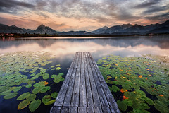 sundown over lake hopfensee (Robert_Freytag) Tags: alpen berge hopfensee bayern bavaria sundown reflection d810 lee nd gnd