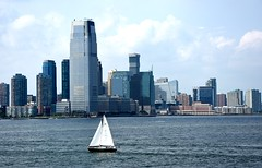 Jersey City - From the ferry to Staten Island (ikimuled) Tags: newyorkcity newyork nyc jerseycity newjersey goldmansachstower grattacieli