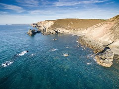Trevaunance Cove looking towards Trevellas Porthole rocks (Tim Burgess : Perfexeon) Tags: uav drone phantom3advanced cornwall cove rocks waves swell ocean atlantic trevaunance