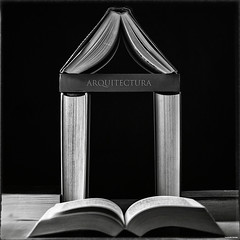 Arquitectura (Fernacinguer1981) Tags: arquitectura conceptual libros bodegn clavebaja blancoynegro blackwhite blackandwhite