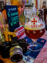 Glass of Tempelier Beer (Yesterdays World Bar in Bruges) (Samsung Galaxy S7 Edge Smartphone) (1 of 1) (markdbaynham) Tags: belgium bruges brugge bruggen beer ale drink traditional samsung galaxy s7 edge smartphone cameraphone tempelier glass world yesterdays pub prime city urban