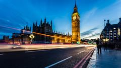 Big Ben/Westminster Long Exposure (Davestarling) Tags: westminster lighttrails london bigben roads canon5dmarkiv longexposure traffic canon1740mmf4l