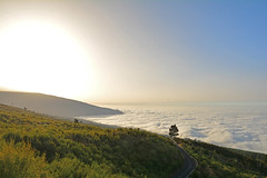 over the clouds (muddy.arky) Tags: espaa tenerife sky clouds mountain outdoor road landscape