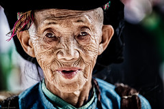 Old Hmong lady (Asian Hideaways Photography) Tags: old lady hmong dong van market people wrinkles ethnic hill tribes vietnam
