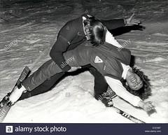 dec-03-1981-snow-tango-members-of-a-hot-dog-skiing-club-of-zurich-E121MT (onesieworld) Tags: retro ski snow fashion sport sexy woman lady girl snowsuit skisuit onepiece onesie jumpsui fetish kink catsuit shiny nylon
