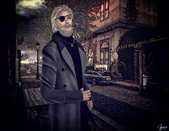 Spice wearing Ch's Designs Victor Coat and Rebellion Lockdown Necklace @ Swank Boutique 187 Teeth @ Haus of Swag and [kunst] Long Cig Holder (Two Too Fashion) Tags: secondlife secondlifemodel style stylish fashion maleoutfit malemodel malecoat fashionoutfit fashionmale rebellion chsdesign kunst swank boutique187 teeth hausofswag victorcoat lockdownnecklace longcigaretteholderrare gacha event elegance exclusive