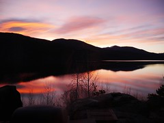 Sunrise over Shadow Mountain Lake (sherrynelson) Tags: grandcounty coloradoautumn colorado sunrise mountainlake shadowmountainlake