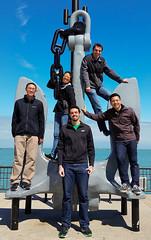 Navy Pier Group Photo (uhhey) Tags: navypier chicago sebastian hans myra stephen kevin