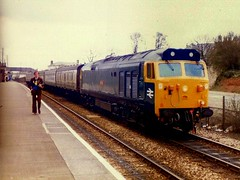 Camborne revisited April 1981 (Chris Baines) Tags: 50019 ramillies camborne 1745 plymouth penzance john mcgovern with tape recorder