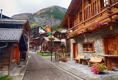 Alpine Village of Zermatt, Switzerland (` Toshio ') Tags: toshio zermatt switzerland swiss swissalps europe european suisse cabin road street village alps fujixe2 xe2